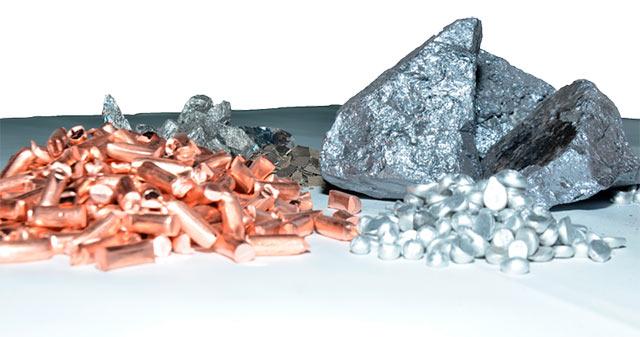 Materiales de las piezas Castinox